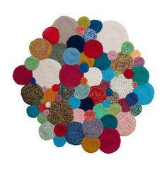 #Crochet rug by Teeny Tini via Las Teje y Maneje Blog