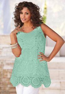 Plus Size Crochet Tunics | Beautiful Crochet Stuff