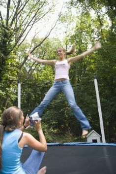 Trampoline Workout - you will feel it the next day. (Your neighbors may think you're nuts, but it's all good)