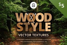 Wood Style Vector Textures by Graphic Ghost on @Graphicsauthor