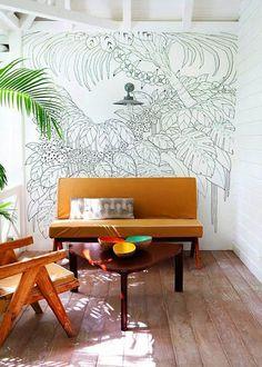 Fresque murale jungle