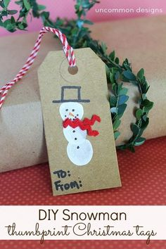 Create a lasting memory when you and your children,friends, and family make these adorable DIY Reindeer and Snowman Thumbprint Christmas Tags. Diy Gifts For Kids, Gifts For Family, Crafts For Kids, Preschool Crafts, Christmas Gift Tags, Christmas Crafts, Primitive Christmas, Country Christmas, Homemade Christmas