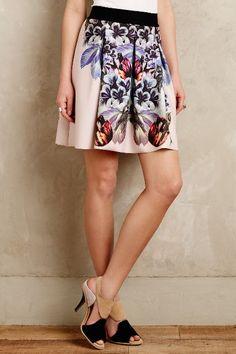 Birds Of Paradise Neoprene Skirt - anthropologie.com