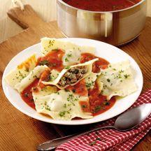 Pikante Ravioli in Tomatencremesauce