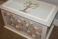 Custom Hand painted Toy Chest by HeathersCustomChests on Etsy