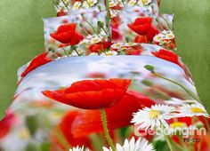 Spring Red flower comforter set queen size 100 cotton bedding duvet cover bed sheet set home textile 100