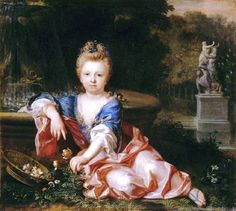 """""""Mariana Victoria of Spain"""" by Alexis Simon Belle (1723)"""
