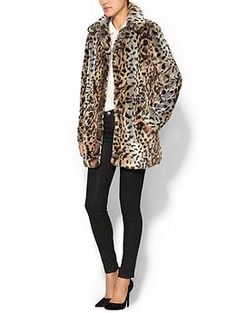 Sabine Faux Fur Animal Coat   Piperlime.  When the Inde-girl's cardigan won't do and blanket is on the bed, faux fur r coat is a snuggly choice.