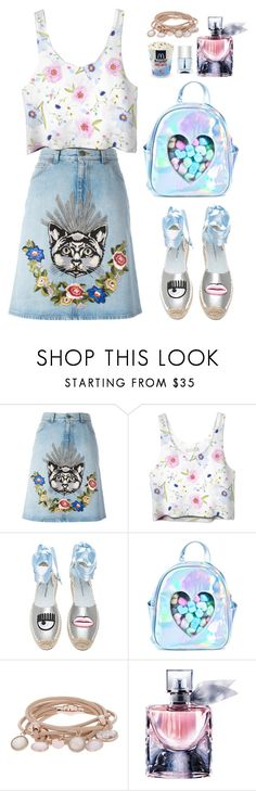 """""""Happy"""" by stevie-pumpkin ❤ liked on Polyvore featuring Gucci, Chiara Ferragni, Sugarbaby, Marjana von Berlepsch, Lancôme and Nails Inc."""