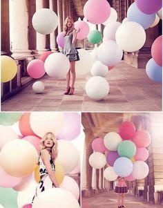 36-Deko-10-Farben-Latex-Luftballons-Hochzeit-Raumdeko-Riesenballon-Geburtstag