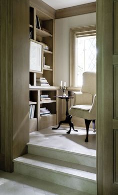 Small reading space. Oh my goodness I would spend so much time here!