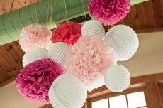 L mparas de papel tendencias de bodas on pinterest - Decoracion con pompones ...