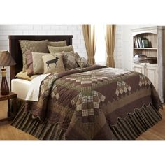 Country Village Shoppe - Barrington Queen Bed Skirt 60x80x16, $54.95 (http://www.countryvillageshoppe.com/barrington-queen-bed-skirt-60x80x16/)