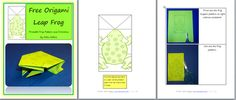 {FREE} origami frog pattern and directions for your frog units