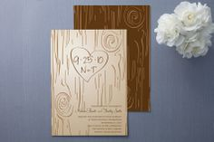 fall carving wedding invitations @ minted