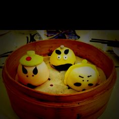 Hong Kong dim sum with funny faces #dimsum #food #instagram