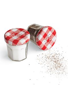 These are perfect for summer cookouts!!! Jam Jar Salt and Pepper Shakers - Martha Stewart Good Things