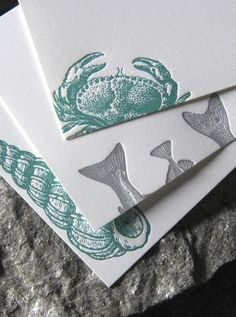 These are gorgeous! Sea Island Inspired Letterpress Stationery