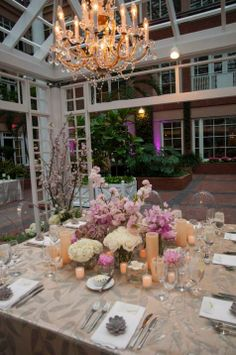 Chandelier Lit Head Table Beneath a Gazebo | Richard Viard | TheKnot.com