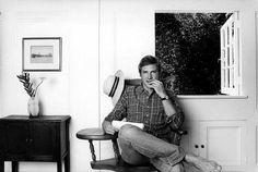 Harrison Ford in his home in Brentwood, early 1980′s