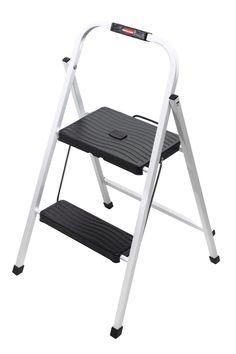 Folding 2-Step Lightweight Steel ...  sc 1 st  Pinterest & Rubbermaid RM-3W Folding 3-Step Steel Frame Stool with Hand Grip ... islam-shia.org