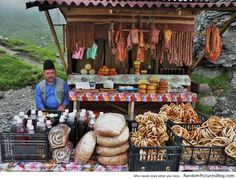 Traditional Romanian food shack