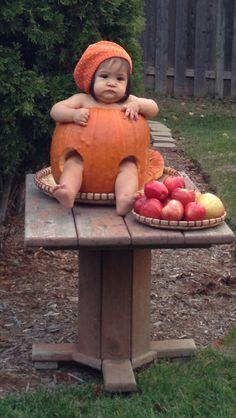 Cute Baby in a Pumpkin Fall 2012