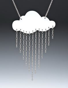 Lg Rain Cloud Necklace by passionflower on Etsy, $30.00