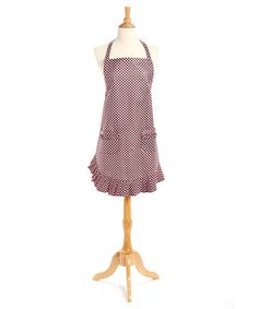 Love this Dot, Dot, Dot Pink Ruffle Apron - Adult on #zulily! #zulilyfinds