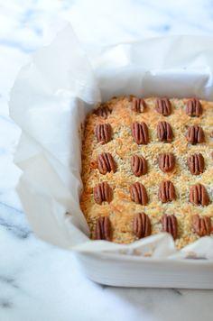 Butterscotch Pumpkin Cake Bars from @zmansaray