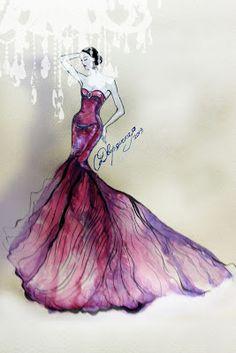Zac Posen fall 2012 OlgaDvoryanskaya olga@pr-butik.com fashion illustration  #fashion#illustration