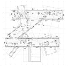 VitraHaus, Vitra Campus, Weil am Rhein, Deutschland, Herzog & de Meuron Architecture Design, Studios Architecture, Architecture Graphics, Architecture Drawings, Facade Design, Concept Architecture, School Architecture, Jacques Herzog, Flooring For Stairs