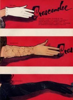 Crescendoe (Gloves) by René Gruau, date unknown