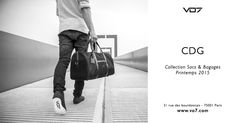 Sac de voyage pour week end VO7 CDG  toile brillante matelassée noir streetchic fashion homme style original