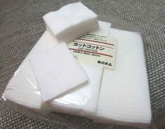 Cut white cotton, $2.25 per 120-bag pouch. Sheisedo dupe.