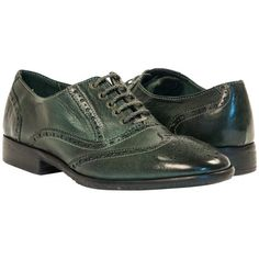 Ashley Dip Dyed Green Leather Oxford Lace Up Shoes from PaoloShoes.com