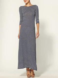 Nautical-inspired maxi dress