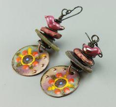 Boho Earrings, Rustic Earrings, Rustic Boho Earrings, Hippie Earrings, Earthy Earrings, #608-114 by ChrisKaitlynJewelry on Etsy