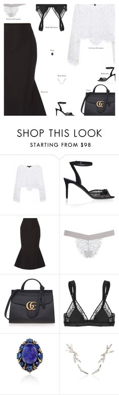 """""""Sunday"""" by amberelb ❤ liked on Polyvore featuring For Love & Lemons, Balenciaga, Dion Lee, Gucci, STELLA McCARTNEY, Sutra and Ryan Storer"""