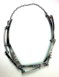 Elaine Rader sterling silver riveted handmade chain
