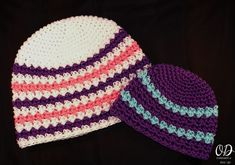 Sweetly Serene Hat available in sizes preemie to adult large. Free Crochet Pattern from Oombawka Design. Easy to make. Great for Charity Crochet Projects and as Chemo caps. #crochet #charity #freepattern