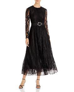 $998.0. LAFAYETTE 148 Dress Genteel Waves Lace Hayden Dress #lafayette148 #dress #clothing Black Strappy Heels, Lafayette 148, Wool Dress, Fit And Flare, Dresses Online, Waves, Model, Lace Dresses, High Point