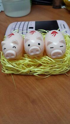 Three of cute piggy