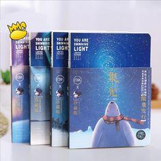 """Shining Light"" 1pc Blank Paper Notebook Sketchbook Diary Journal Memo Planner #Unbranded"