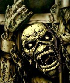 Iron Maiden-Piece of mind Arte Heavy Metal, Heavy Metal Bands, Heavy Metal Rock, Music Drawings, Music Artwork, Tatouage Rock And Roll, Iron Maiden Mascot, Iron Maiden Band, Eddie Iron Maiden
