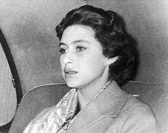 Princess Margaret Rose after she was required to renounce her affection for Group Captain Peter Townsend