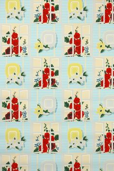 Vintage Wallpaper Source Hannahu0027s Treasures, All Kinds Of Old Stock,  Authentic Vintage Wallpaper Patterns