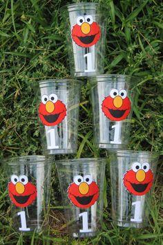24 Elmo Party Cups Elmo Elmo Birthday Party Sesame by HelloFaith, $13.50