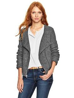 Sweater moto jacket