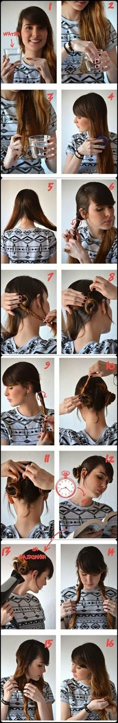 Get easily natural wavy hair,Get Natural waves for your hair  or get wavy hair without heat.DIY hairstyles for girls.
